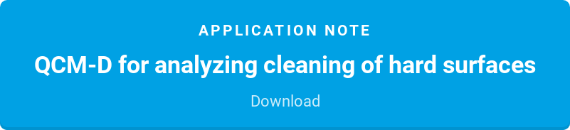 Application note  QCM-D for analyzing cleaning of hard surfaces  Download