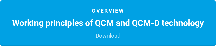 Overview  Working principles of QCM and QCM-D technology  Download