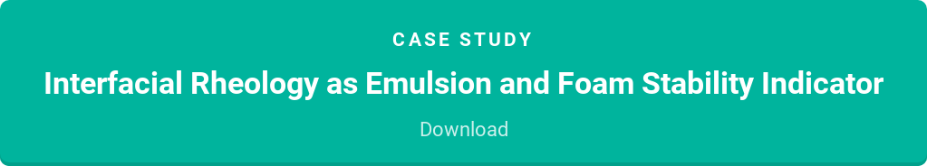 case study  Interfacial Rheology as Emulsion and Foam Stability Indicator  Download