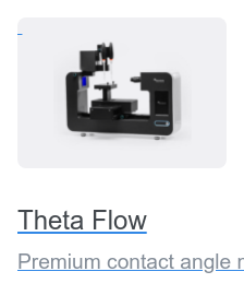 Theta Flow Premium contact angle meter suitable for demanding surface research and  quality control.