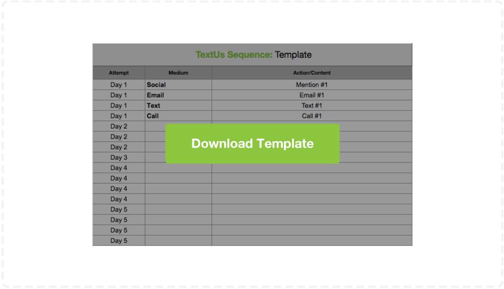 Download TextUs Sequence Template