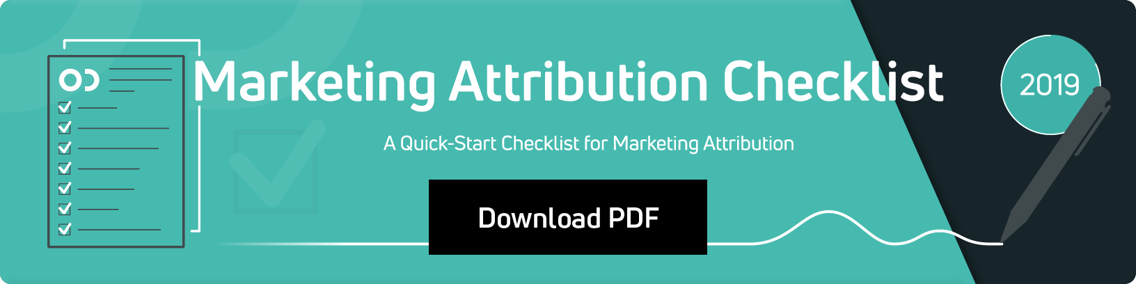 Marketing Attribution Checklist 2019