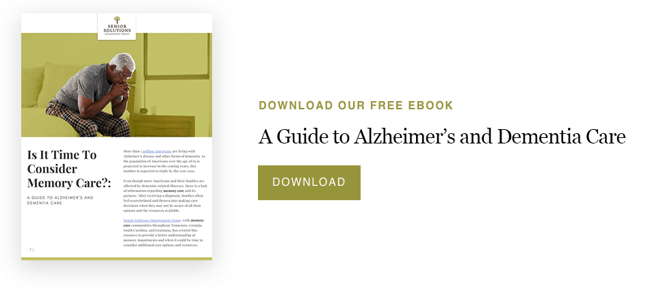 Guide to Alzheimer's and Dementia Care eBook-Senior Solutions Management Group