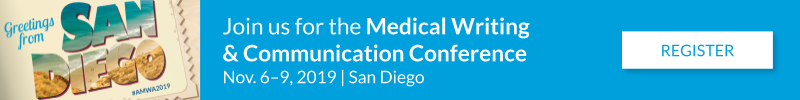 Register for the Medical Writing and Communication Conference - Nov 6-9, 2019