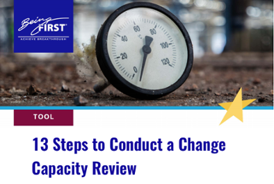 Click here for tool: 13 Steps to Conduct a Change Capacity Review