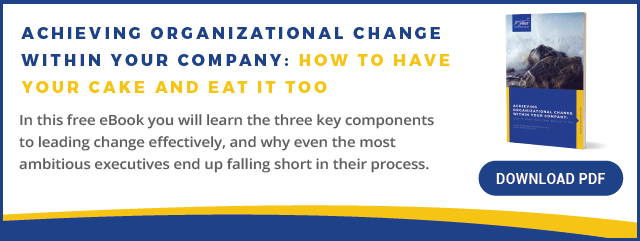 Free eBook: Achieving Organizational Change Within Your Company: How to Have Your Cake and Eat it Too