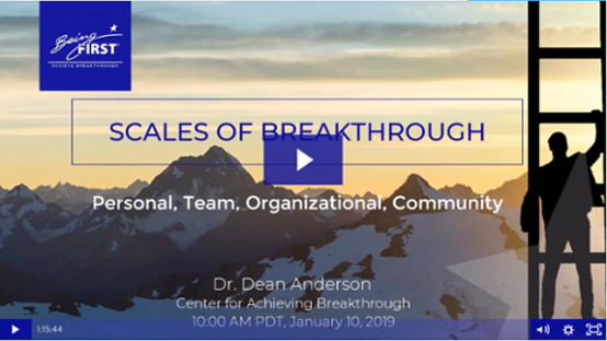 Webinar: Scales of Breakthrough: Personal, Team, Organizational, Community