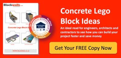 Concrete lego block ideas