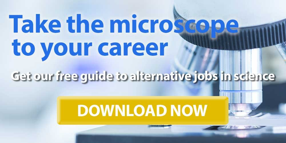 Download our free handbook on alternative careers in science