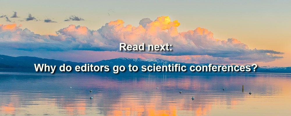 Why do editors go to scientific conferences?