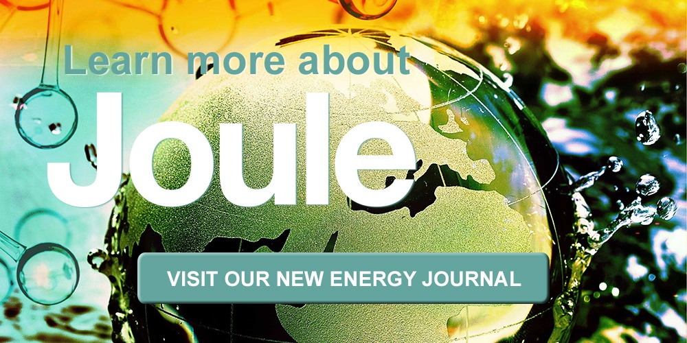 Visit Joule website to learn more about Cell Press's newest journal