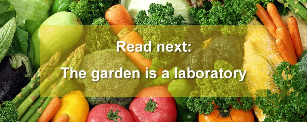 The garden is a laboratory