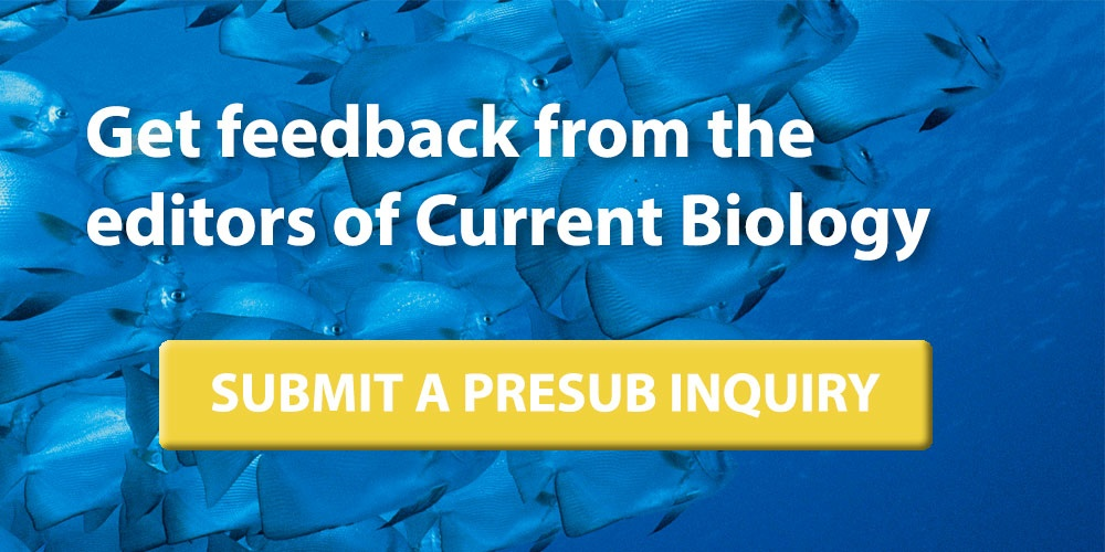 Email Current Biology a presubmission inquiry