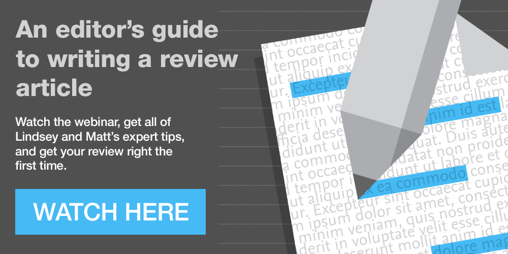 Watch And editor's guide to writing a review article