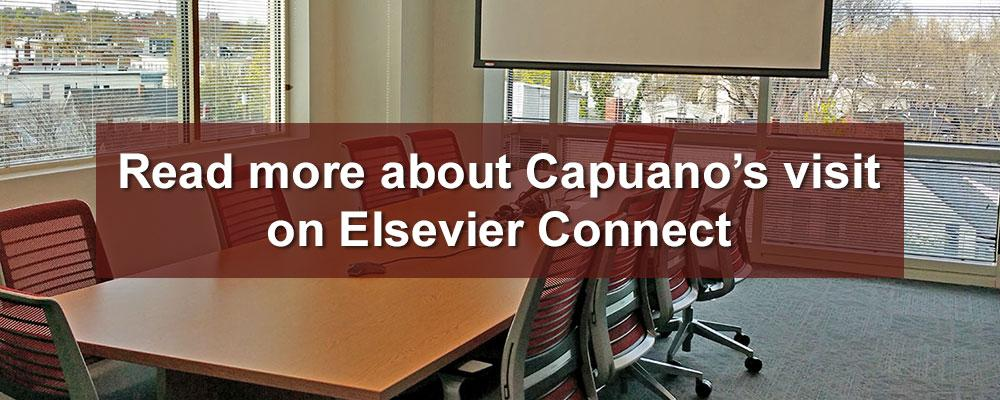 Read more about Capuano's visit on Elsevier Connecy (image courtesy of Elsevier)