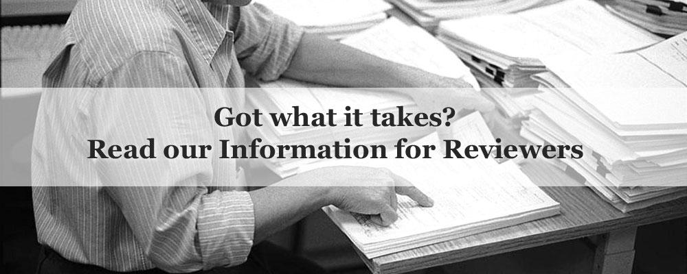Read our Information for Reviewers
