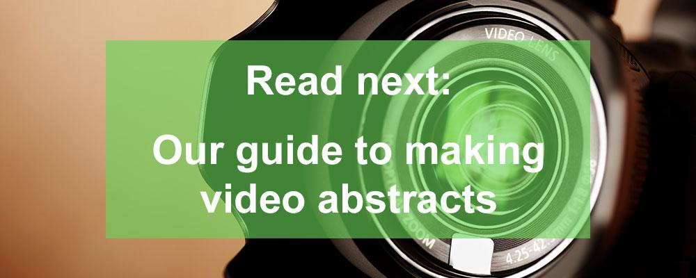 Next, make your video abstract