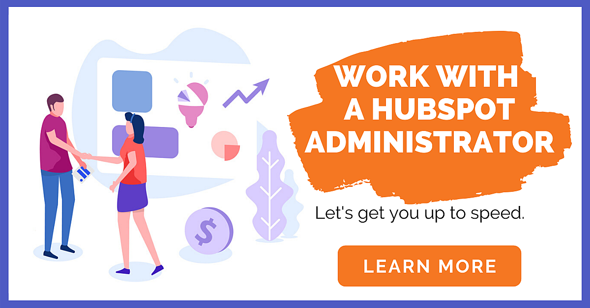 Work with a Hubspot Administrator CTA