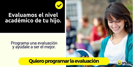 Programa una evaluación para tu hijo
