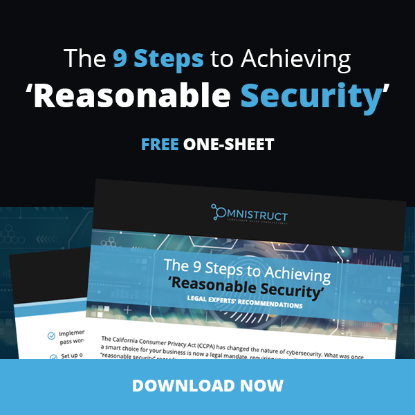 Free One-Sheet: The 9 Steps to Achieving 'Reasonable Security'