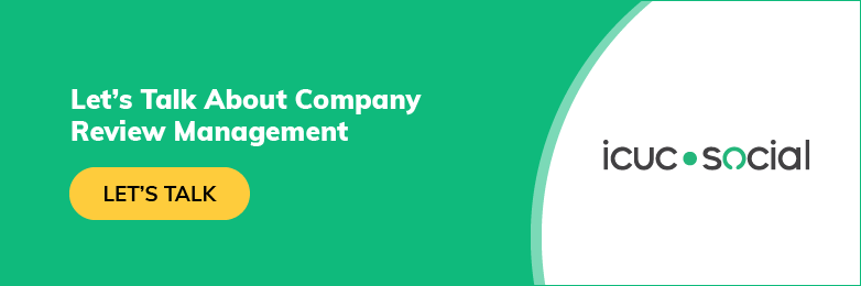Let's Talk About Company Review Management CTA