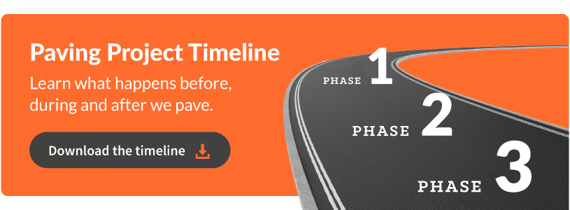 Download the Paving Project Timeline - Learn what happens before, during, and after we pave