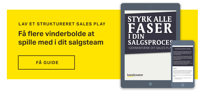 Lav et struktureret sales play