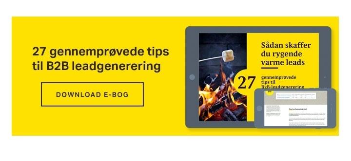 27 tips til effektiv leadgenerering for B2B-virksomheder. Download e-bogen gratis.