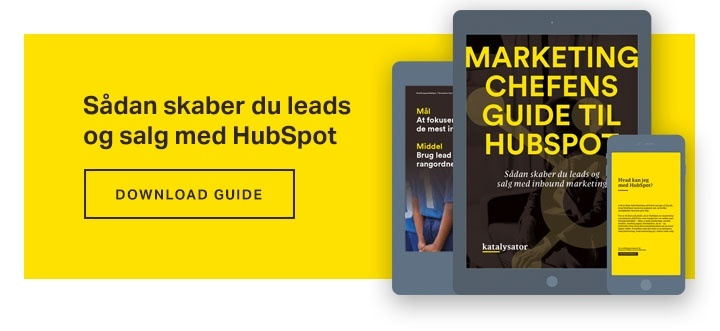 Download din guide til succes med HubSpot