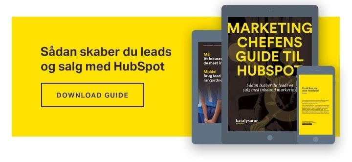 Download din guide til succes med HubSpot