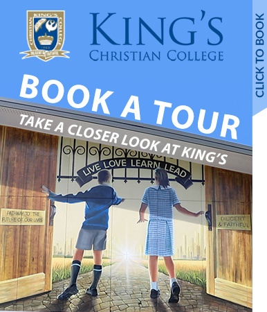 Book your personal tour of King's Christian College