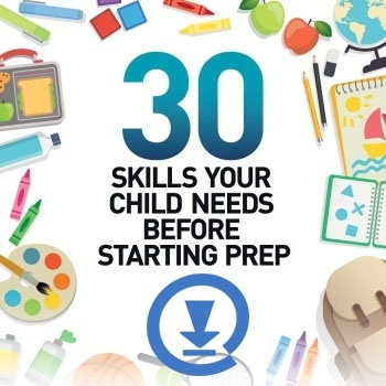 Click to discover the 30 skills your child needs before starting Prep
