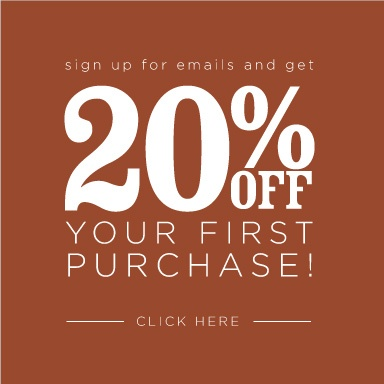 Click here for 20% off your first purchase!