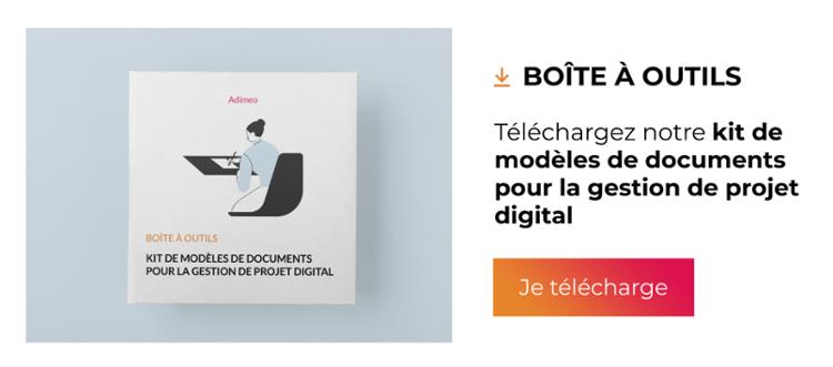 Kit - Modèles de documents pour la gestion de projet digital