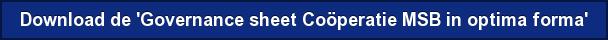 Download de 'Governance sheet Coöperatie MSB in optima forma'