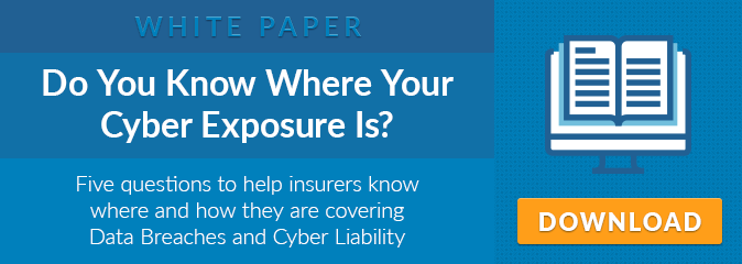 White Paper: Do You Know Where Your Cyber Exposure Is? Five questions to help insurers know where and how they are covering Data Breaches and Cyber Liability. Click to Download.