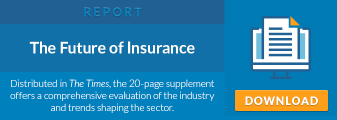 REPORT: The Future of Insurance - Distributed in The Times, the 20-page supplement offers a comprehensive evaluation of the industry and trends shaping the sector. Download Now.
