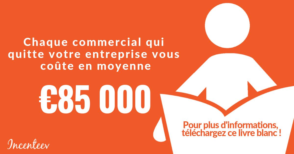 Chaque commercial qui quitte votre entreprise vous coûte en moyenne €85 000. Envie d'approfondir ? Pour plus d'informations téléchargez ce livre blanc !