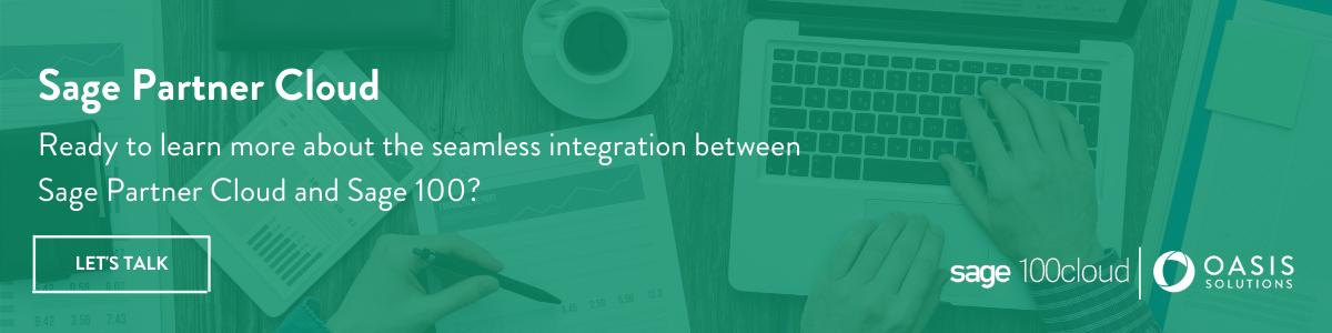 Sage Partner Cloud: Integrate Your Sage 100 Now