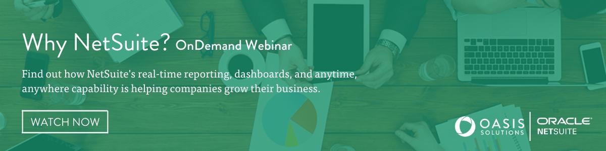 Why NetSuite? OnDemand webinar: Watch now