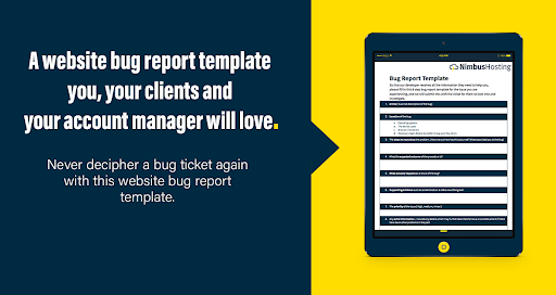 bug reporting template