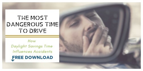The Most Dangerous Time To Drive How Daylight Savings Time Influences Accidents Free Article Download Image of Man Yawning in rearview mirror