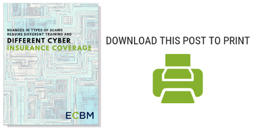 Download the printer friendly version of Different Cyber insurance coverage