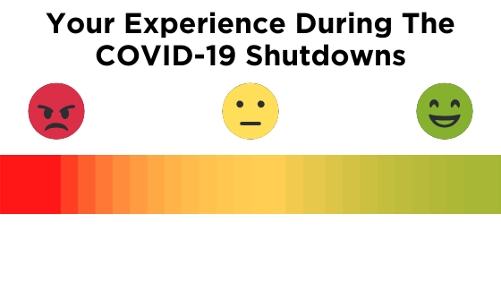 We need your feedback! Click here to share your experience and struggles with COVID-19 shutdowns
