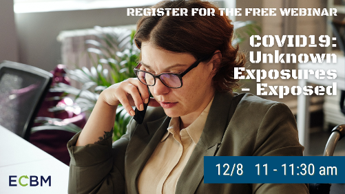 Click here to register for the free webinar Covid Exposures