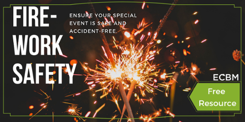 Click to download a safety article about using fireworks at home Free Resource text overlay on sparkler