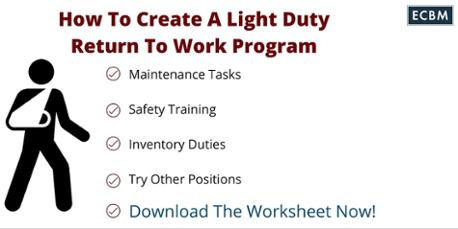 Great Worksheet For Return To Work Light Duty Great Pictures
