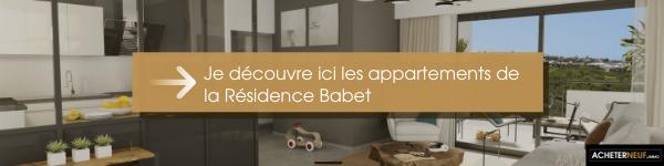 Je découvre ici les appartement de la résidence babet