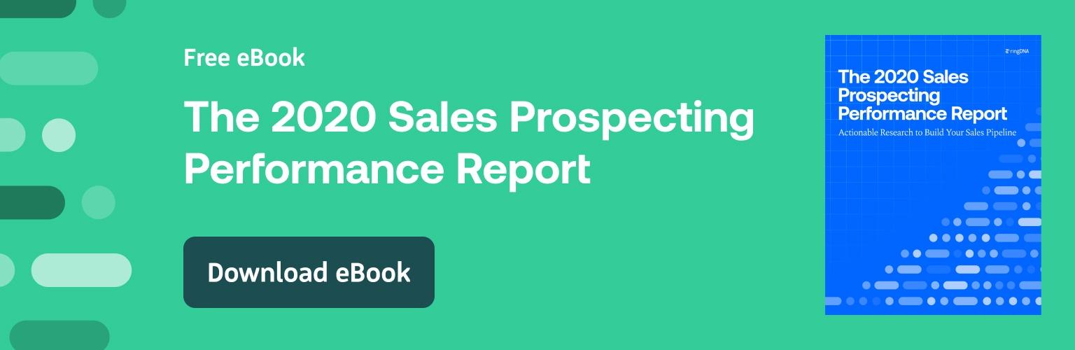 2020 Sales Prospecting Performance Report