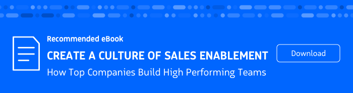 Recommended eBook: How to Create a Culture of Sales Enablement